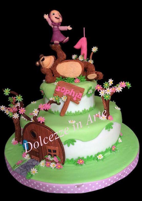 torta masha e orso casetta
