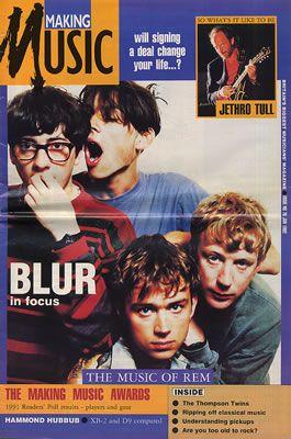 Blur - Making Music magazine.