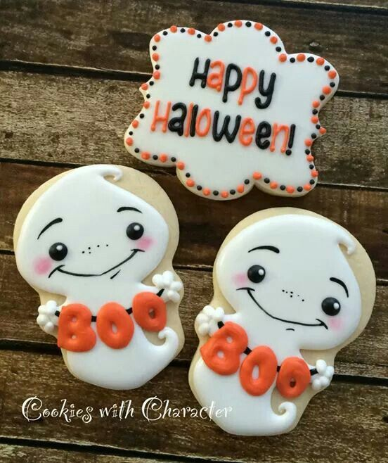 Ghost cookies with a Skull Cookie Cutter.