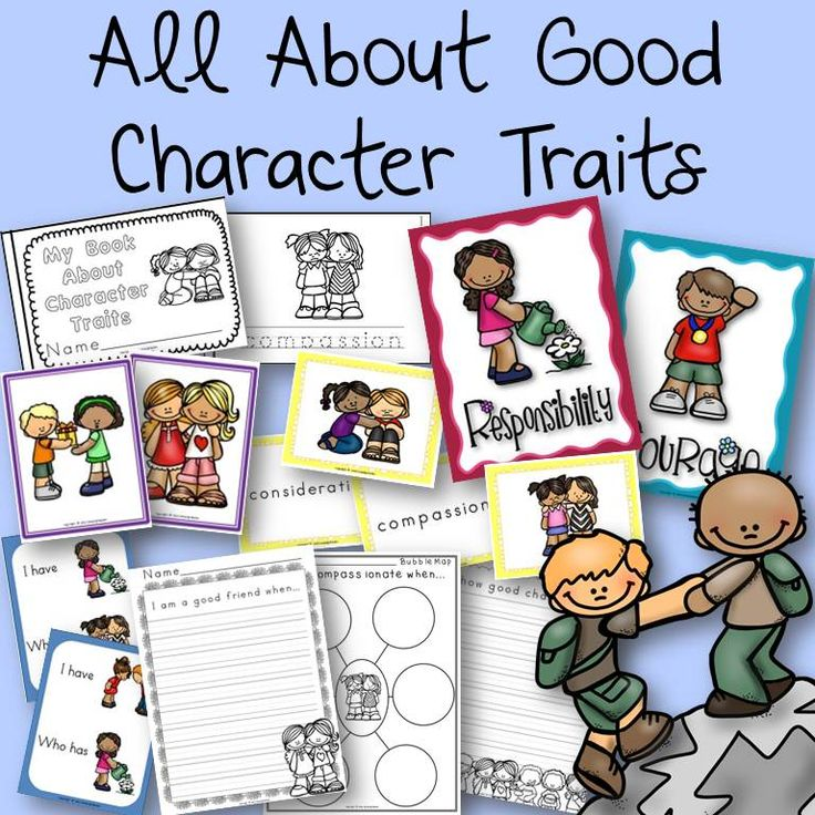 All about good character traits -  posters, book, and activities!  The character traits included are: responsibility, respect, perseverance, honesty, compassion, consideration, cooperation, courage, friendship, and generosity.