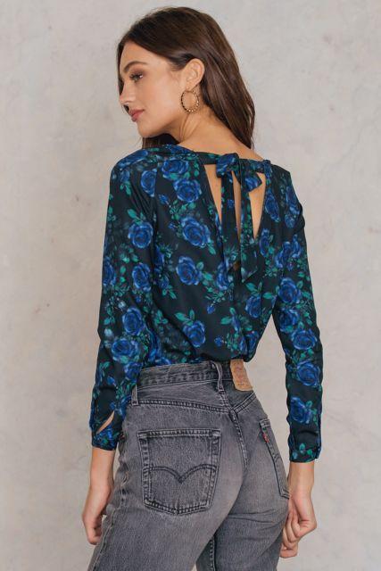 Amela Printed Blouse