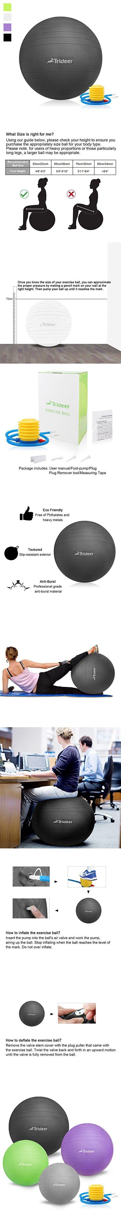Pilates malibu chair buy malibu chair pilates combo - Trideer 2000lbs Anti Burst Fitness Ball Exercise Ball Body Balance Balancing Yoga Pilates