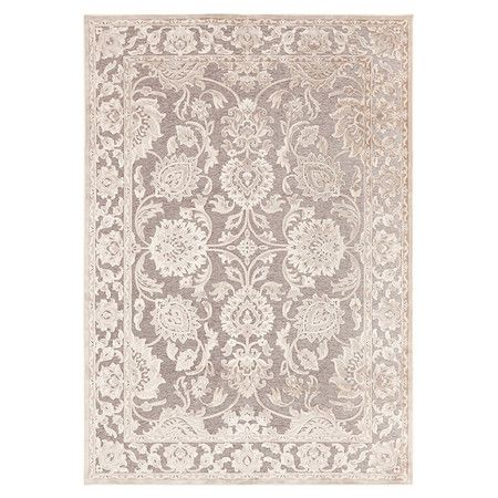 Anchor your living room seating group or define space in the den with this Turkish-made chenille and art silk rug, showcasing a damask-inspired Persian motif...
