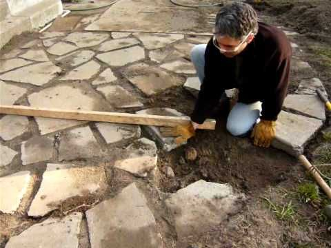 recycled concrete: install a patio
