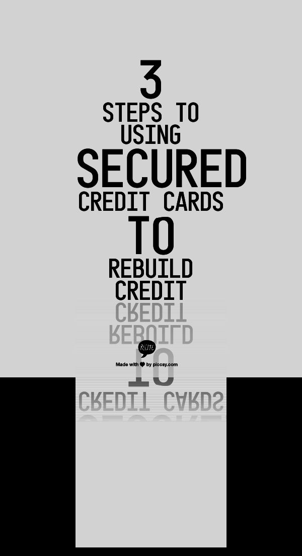 "3 Steps To Using Secured Credit Cards To Rebuild Credit - By putting down a cash deposit with a credit card company, you can secure a line of ""credit"" that gets reported to the major credit reporting agencies. Utilize the card to your best advantage and it's pretty much guaranteed to help improve your credit score."