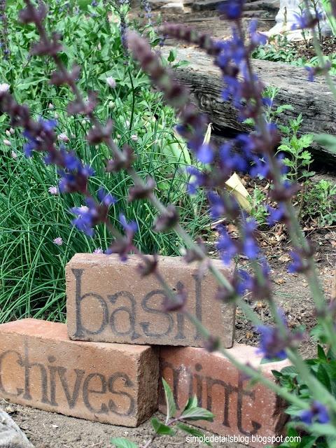 brick herb signs