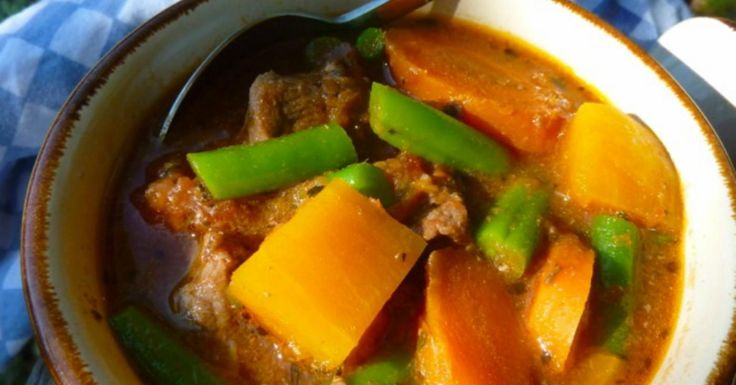 Packed with butternut squash, beef, and sweet-smelling herbs, Gluten Free Dairy Free Beef and Butternut Stew is an appetizing slow cooker freezer meal.