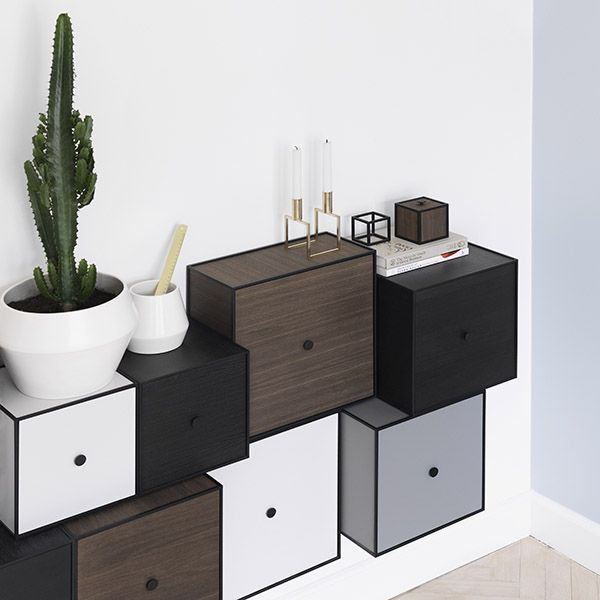 """""""The beautiful dark colour of the Frame boxes in smoked oak compliment the by Lassen universe extremely well. Oak is a well known material in the history of Scandinavian design and darker wooden colours have become particularly popular in recent years. Frame offers endless possibilities for individual styling, both in large and small settings,"""" says Nadia Lassen @nadialassen, and Co-Owner of by Lassen."""