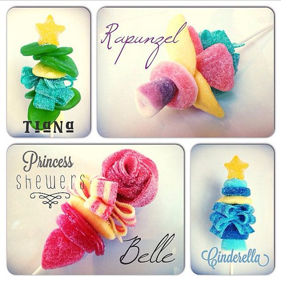 Disney Princess inspired Candy Kabobs by SweetsIndeed