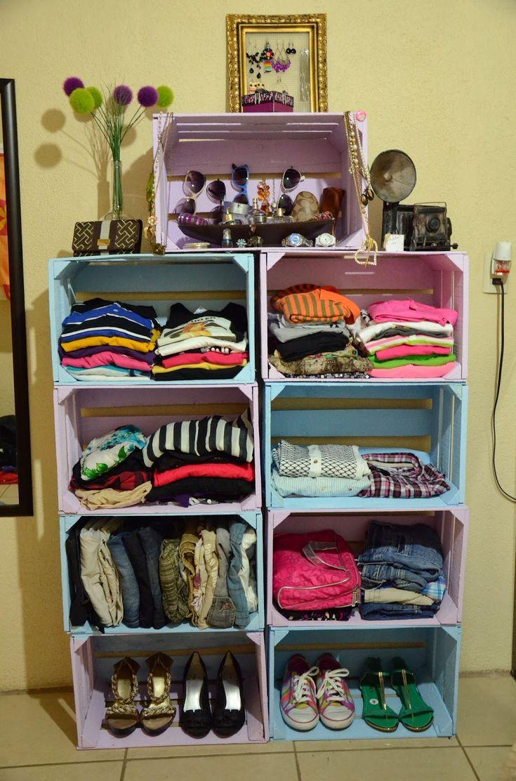 M s de 25 ideas incre bles sobre estante de cajas en for Muebles reciclados ideas