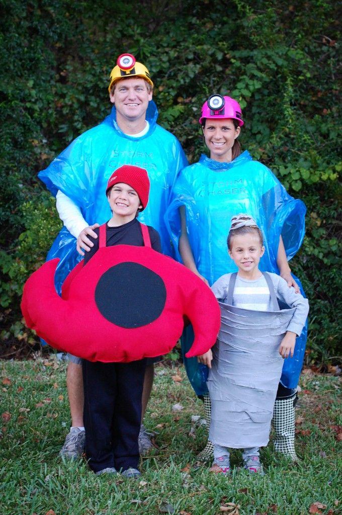 family halloween costumes hurricane tornado storm chasers - Meteorologist Halloween Costume