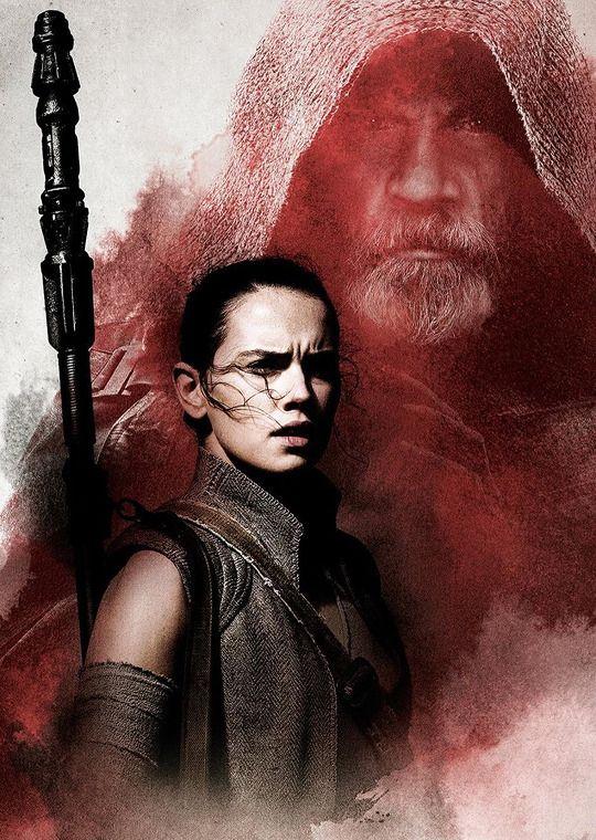 swnews:     Promotional art of Luke and Rey -  | starwarsheckyeah