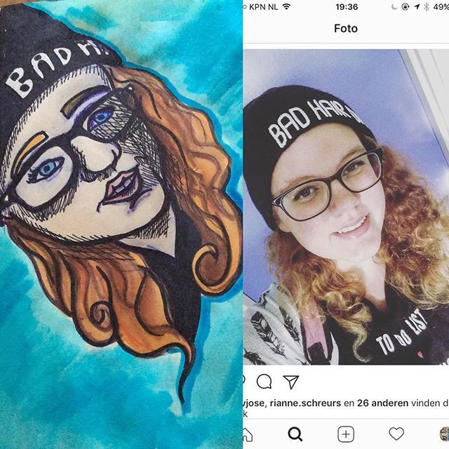 I made a drawing in my weird own style of the beautiful girl that I may call my sister @estherschreurs she's the best ❤️ #artsharing_ #artsharecircle #artshare4small #artsharez #artshare_ig #art #artis #art🎨 #artista #art #artjournal #artgram #artschool #artlovers #artforsale #artdaily #art_empire #cibap #student #drawing #ecolinebrushmarker #ecoline #promarker #brushmarker #portrait #cartoon