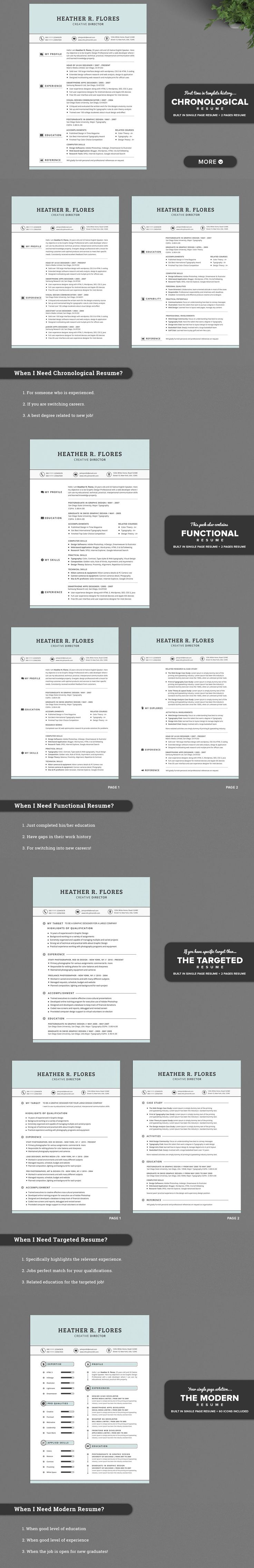 Chronological Resume Samples%0A    in   Timeless Resume CV Pack by SNIPESCIENTIST on Creative Market
