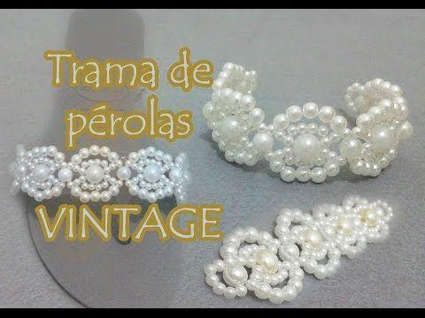 DIY- Flor de pérolas para sandálias, tiaras, laços de cabelo... - YouTube