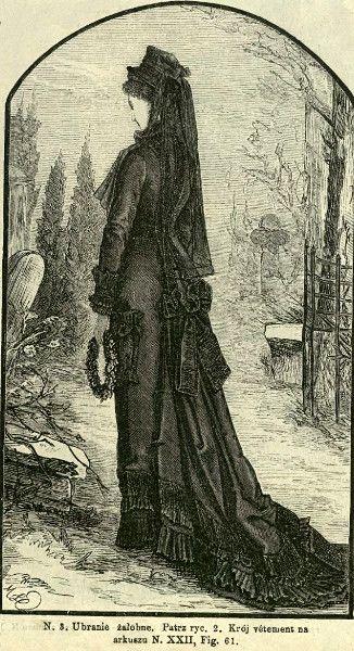 Suknia żałobna, 1877   Mourning outfit, 1877