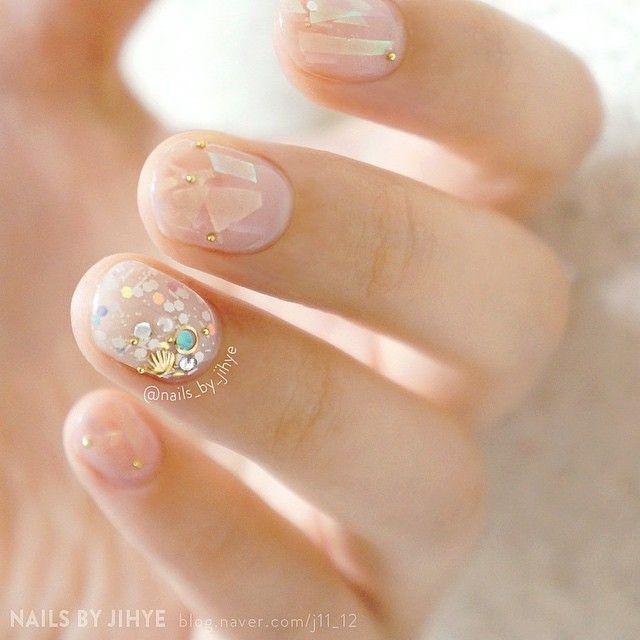 「夏の3色オーロラネイル【ピンク・ブルー・ホワイト ver.】」に含まれるinstagramの画像|MERY[メリー] http://mery.jp/instagram_photos/214417?from=mery_ios