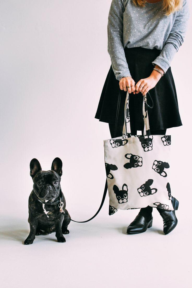 French Bulldog Pattern Tote Bag