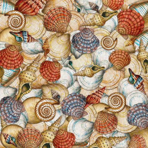 K and Company - Travel Collection - 12 x 12 Paper - Shells at Scrapbook.com $0.55