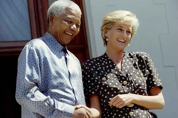 Diana with Nelson Mandela
