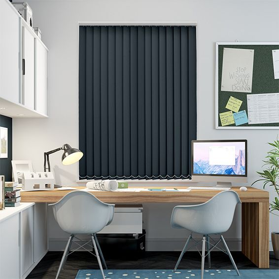 Welwyn Nighttime Blue Vertical Blind from Blinds 2go