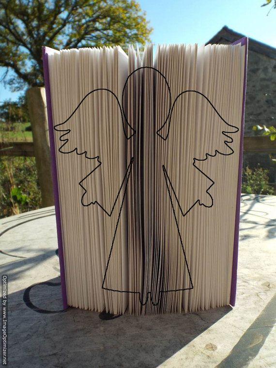 Cherub folding book art pattern. Full instructions included.Book folding pattern.Book art.Book fold pattern.Folded book art.