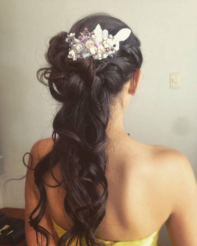 Prueba de peinado para Carolina #peinado #novia #tocado