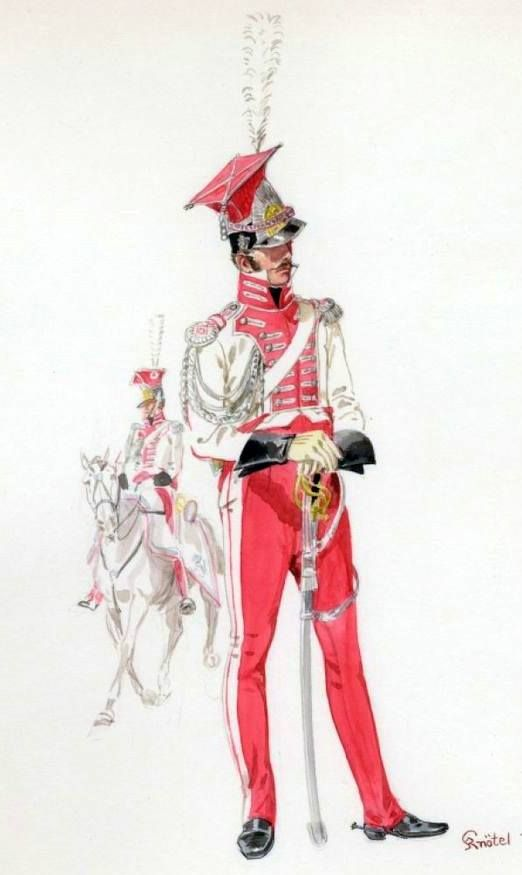 Berg Guard du Corps Chevau-Legers Lancer Officer