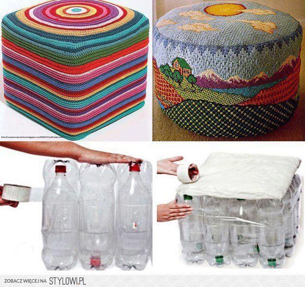 recykling - pufa z butelek na Stylowi.pl