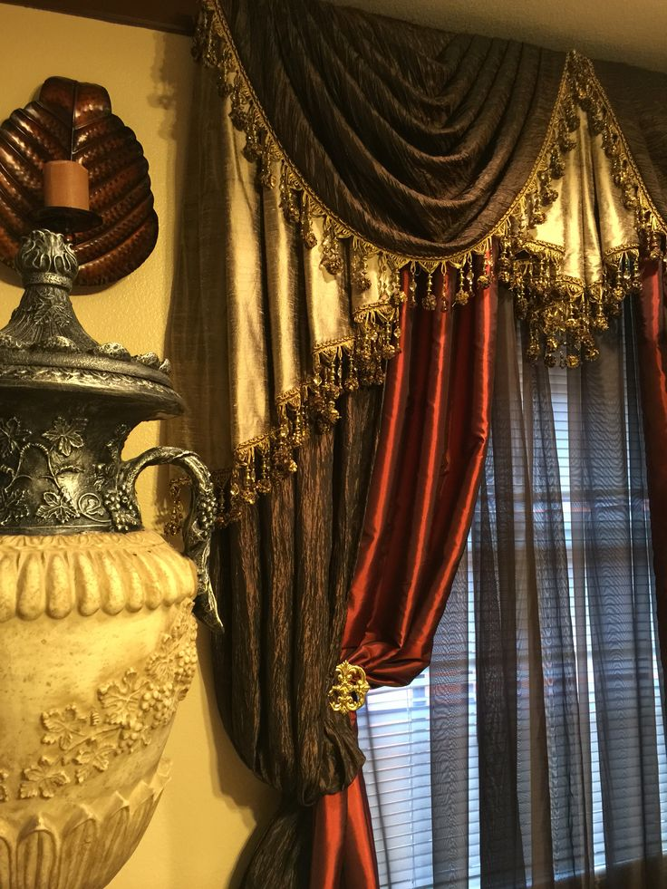 Classical Swags And Jabots Custom Drapery Designs Are