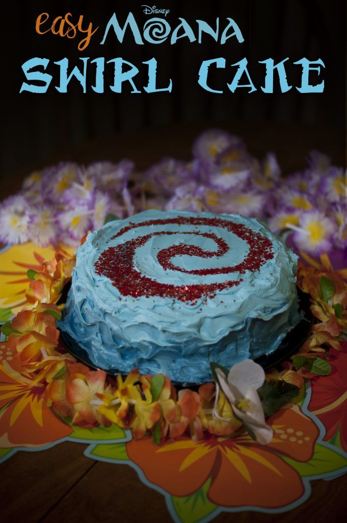Easy to Make Disney Princess Moana Cake- make this cake with an easy cut out stencil and some fruity ingredients!