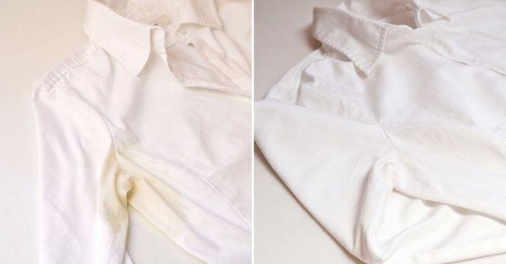 Práctica receta para eliminar manchas de sudor de la ropa.