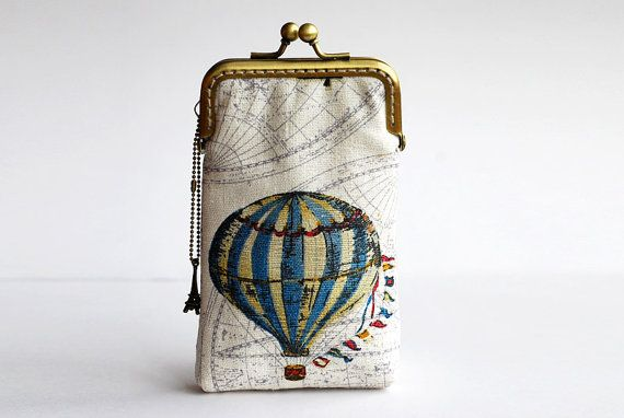 Hot Air Balloon Iphone case gadget case iPhone sleeve by lazydoll, $29.90