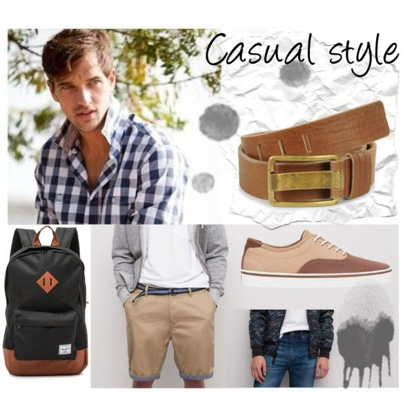 Casual style for men by cbccbc on Polyvore featuring moda, Herschel Supply Co., Mavi and modern
