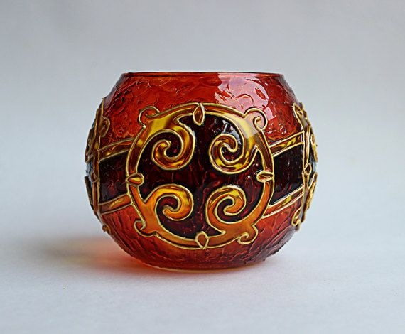 Check out this item in my Etsy shop https://www.etsy.com/listing/513403269/celtic-glass-candle-holder-candleholder
