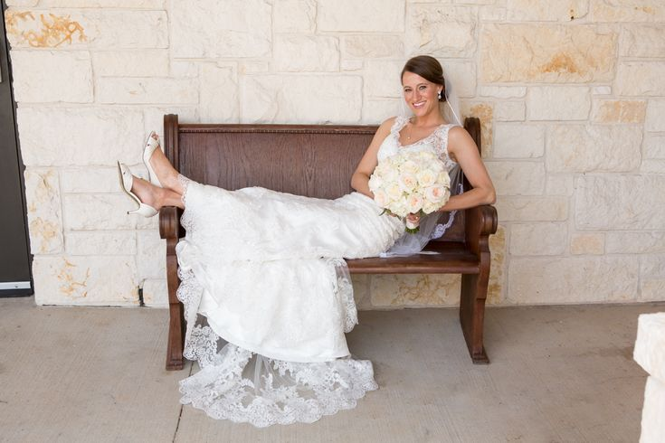 Bridal portrait featuring shoes and bouquet - More casual bridal portrait pose - Briscoe Manor bridal portrait - Houston wedding photography - MD Turner Photography