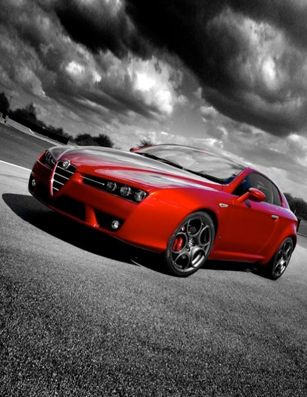 ♂ red car Alfa Romeo Brera S  #car #wheels