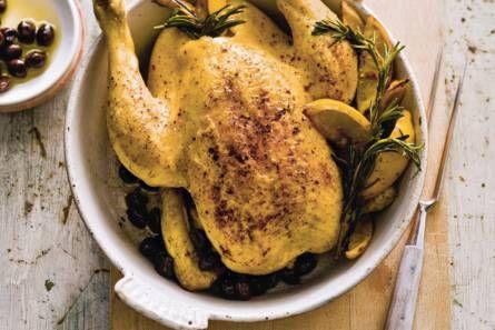 Kip met olijven en rozemarijn