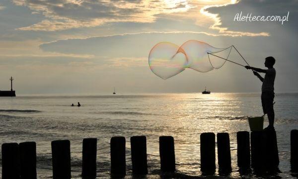 Soap bubbles over the Baltic Sea