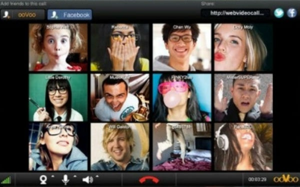 ooVoo -- 12 way multi-person video chat on facebook