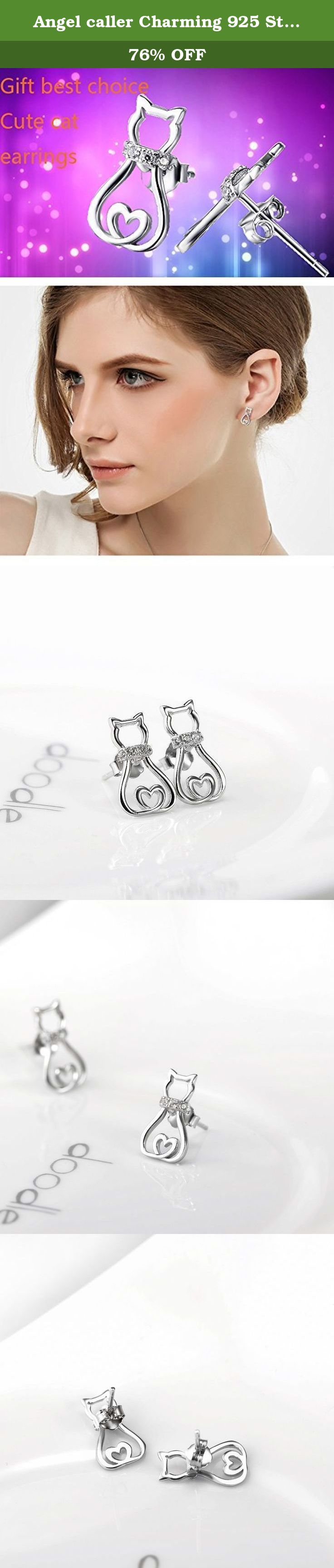 Angel caller Charming 925 Sterling Silver Cute Pet Cat Stud Earrings For Girls Women Ladies. UNIQUE CUTE LOVELY PET CAT STUD EARRINGS IS A GOOD CHOICE AS A GIFT IN ALL DEPARTMENT OR KINDS FESTIVALS. Company Product: Our company was founded in 2006,we have more than 100 branch offices nationwide and more than 2000 employees so far,there are kinds of jewelry,welcome to retail sale and wholesale. Guarantee: we sell the high quality and low price items,100% new style.and 100% 925 sterling...