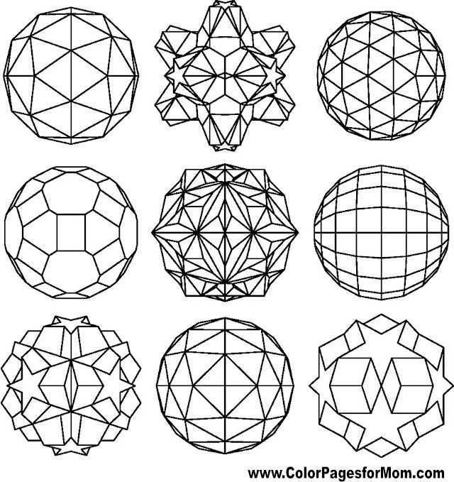 The 120 best Coloring-Geometric images on Pinterest | Coloring books ...