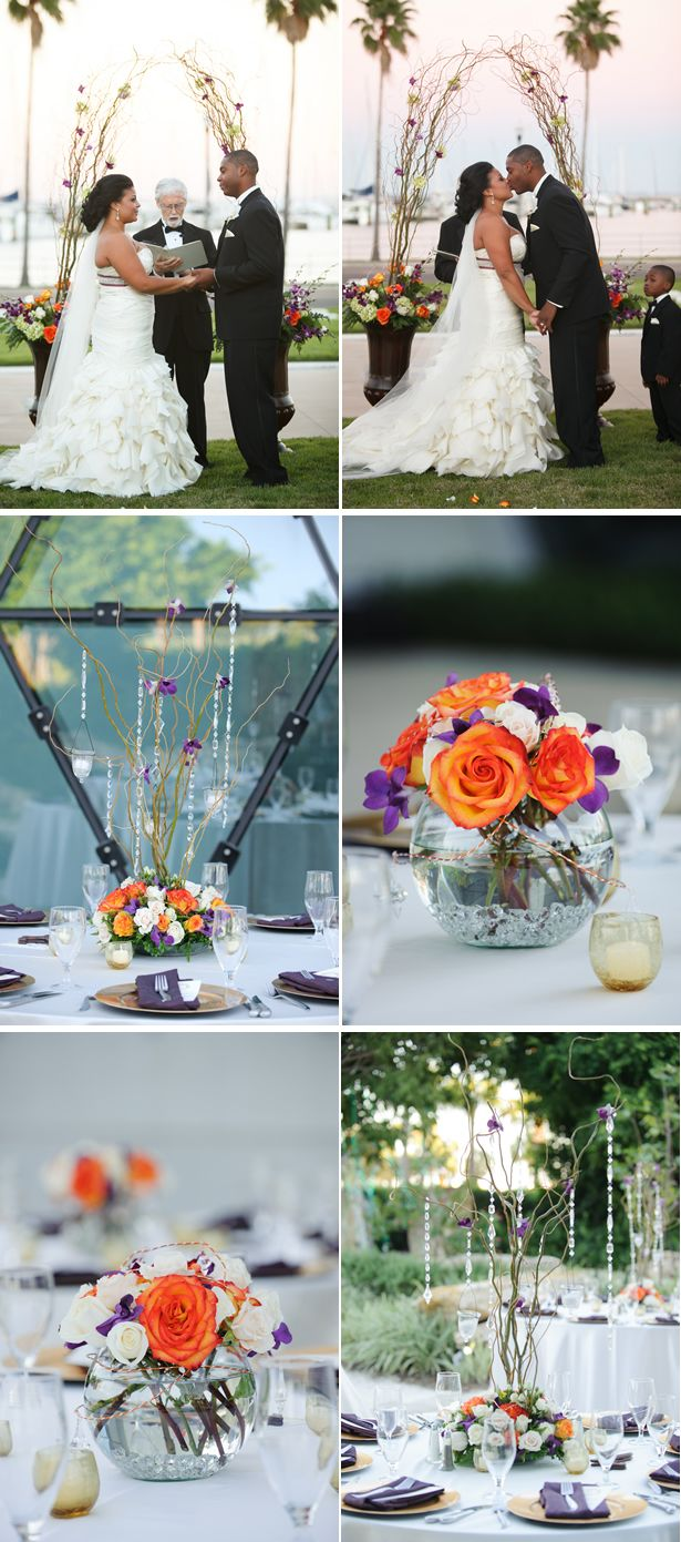 Vintage outdoor wedding isle decorations.... The logs and Jars of flowers.