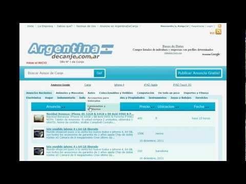 Video Demostración Sistema de Calsificados Online