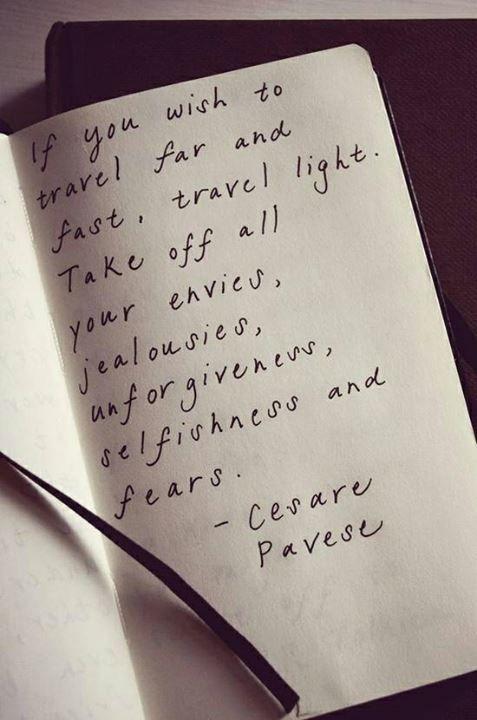 Travel Light - Cesare Pavese