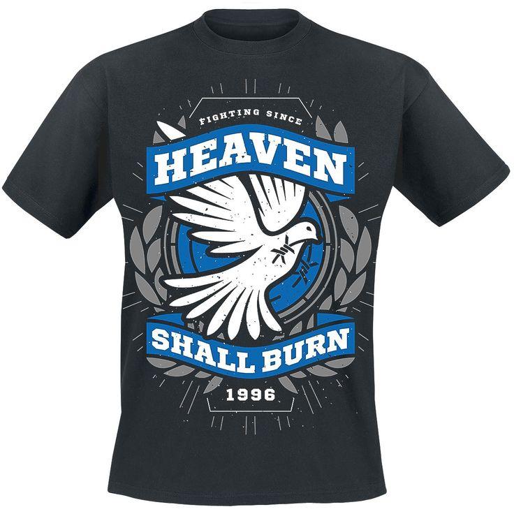 """Classica T-Shirt uomo nera """"Dove"""" degli #HeavenShallBurn."""