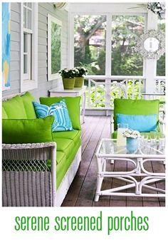 serene screened porches