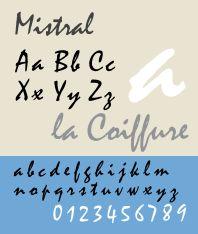 mistral шрифт русский образец