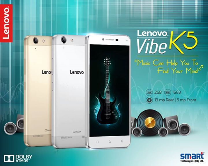 #Lenovo_K5_with_Dolby_Atmos_®#Audio  #The_Lenovo_Vibe_K5 is equipped with twin speakers and state-of-the-art Dolby Atmos®—delivering a rich, immersive sound wherever you go. Music, videos, games, and even video chats will be enhanced with audio that flows above and around you.