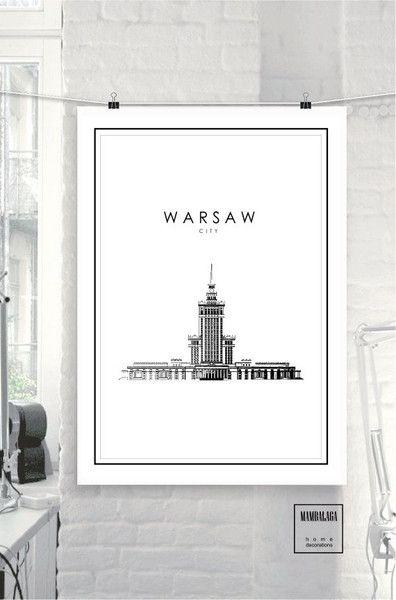 plakat Warszawa PAŁAC - MAMBALAGA - Plakaty typograficzne
